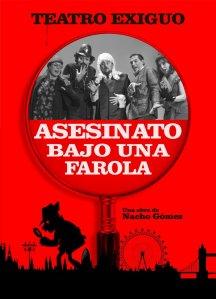 Cartel ASESINATO BAJO UNA FAROLA(A3)